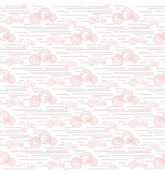 Baby seamless pattern pastel pink fun vector