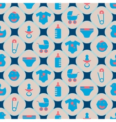Baseamless background with baby stuff vector