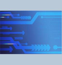 Blue arrows abstract background vector