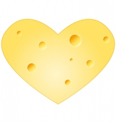 cheese heart vector image