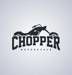 Chopper motorcycle vector