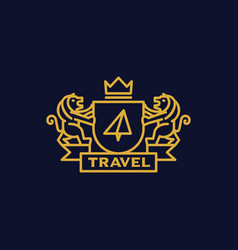coat of arms travel vector image
