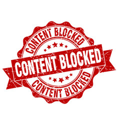 Content blocked stamp sign seal vector