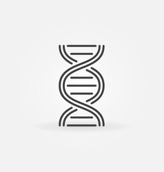 dna structure icon in thin line style vector image vector image