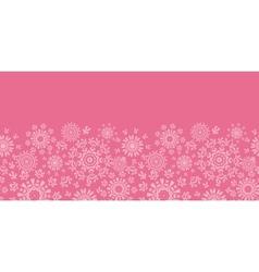Folk pink floral circles texture abstract vector