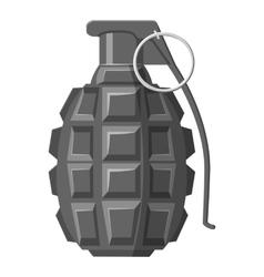Grenade icon gray monochrome style vector