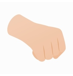 Hand with clenched fist icon isometric 3d style vector image