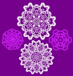 Lace doily pattern set vector