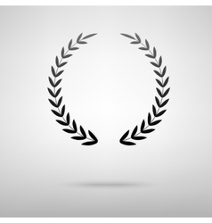 Laurel wreath black icon vector