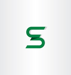 Letter s logotype s icon logo green sign vector