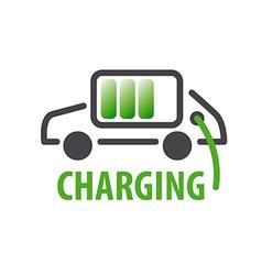 Logo charging car batteries vector