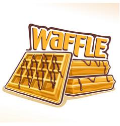 logo for belgian waffle vector image