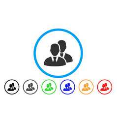 managers rounded icon vector image vector image