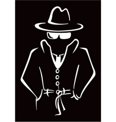 Mysterious man in the hat vector