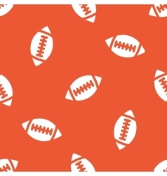Orange rugby pattern vector