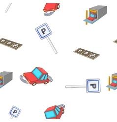 Parking area pattern cartoon style vector