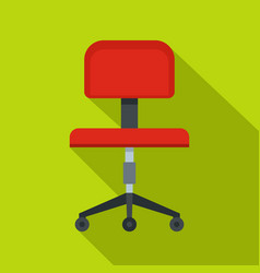 red office a chair icon flat style vector image