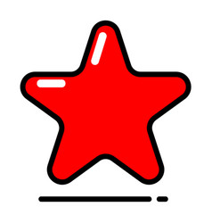 Red star icon favorite best rating award vector