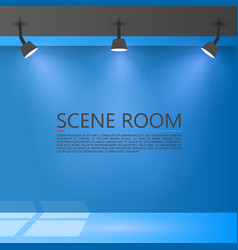 room with a light source vector image