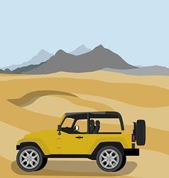 Safari car in desert vector