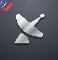 Satellite dish icon symbol 3D style Trendy modern vector image