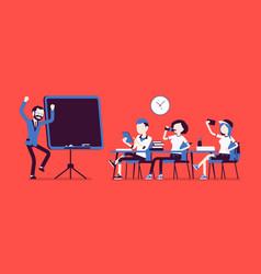 School bad behaviour vector