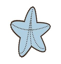Sea starfish concept vacation beach vector