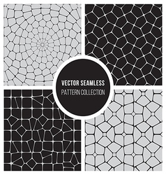 Seamless bw pattern mosaic collection vector