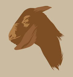 Silhouette goat head vector