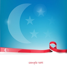 Singapore ribbon flag vector