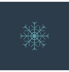 Snowflake flat icon EPS vector image vector image