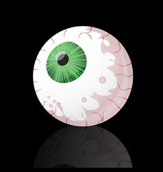 Spooky green eyeball vector