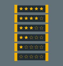 Star rating in dark theme vector