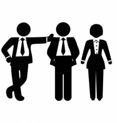 team of 3 business people vector image