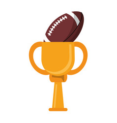 Trophy american football ball winner vector
