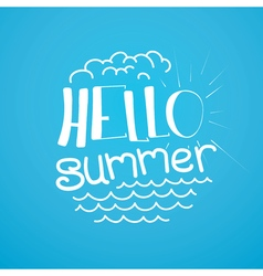 Welcome banner for the summer vector