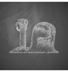 tombstone icon vector image