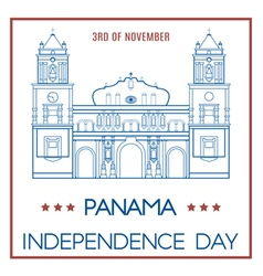 Panama day vector