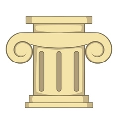 Roman column icon cartoon style vector