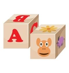 Baby cubes icon cartoon style vector