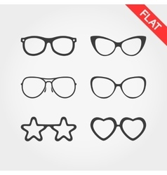 Set spectacle frames vector