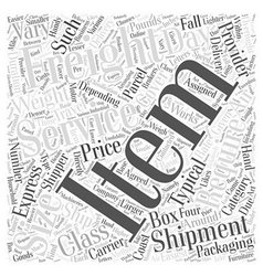 air freight service Word Cloud Concept vector image