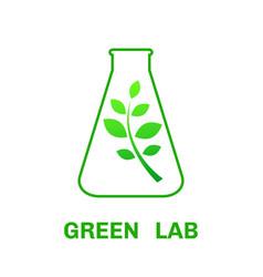 laboratory ecology logo vector image