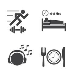 Good health icons set vector