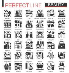 Beauty cosmetics classic black mini concept vector
