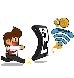 Businessman wifi concept vector