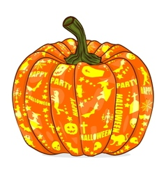 Isolated pumpkin lantern vector