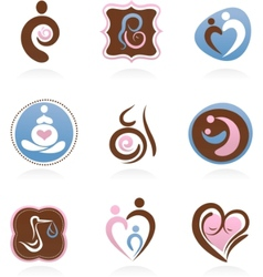 collection of motherhood icons vector image