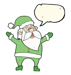 Cartoon santa claus with speech bubble vector