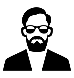 Hipster fashion man hair glasses and beards vector